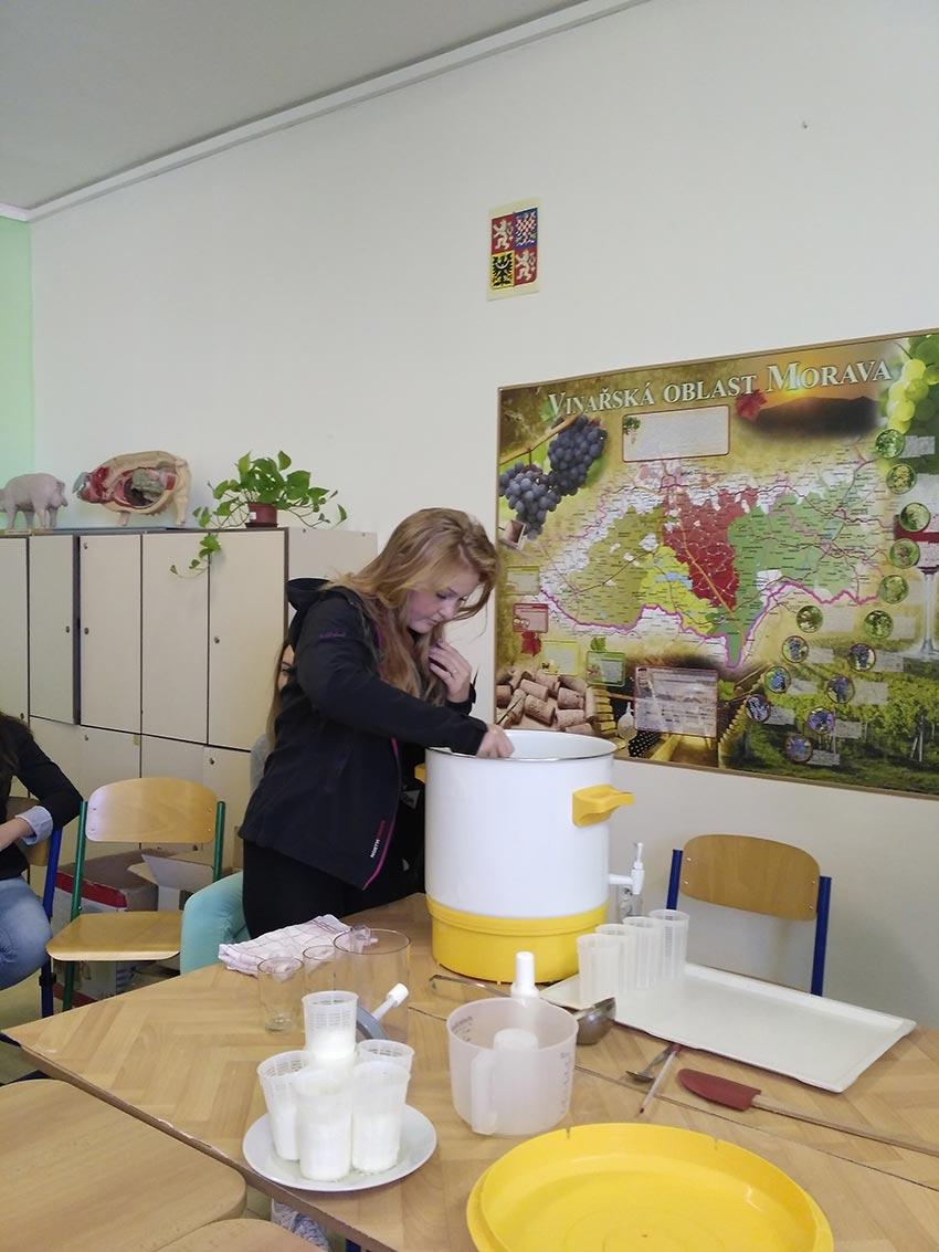 Žáci oboru Agropodnikání ve Znojmě